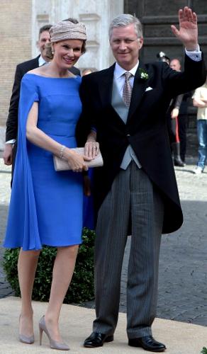 Queen Mathilde, July 5, 2014 in Fabienne Delvigne   Royal Hats