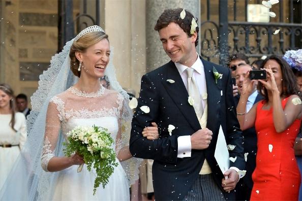 Prince Amedeo, Archduke of Austria-Este and Elisabetta Rosboch von Wolkenstein, July 5, 2014 in Valentino   Royal Hats