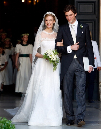 Prince Amedeo, Archduke of Austria-Este and Elisabetta Rosboch von Wolkenstein, July 5, 2014 in Valentino | Royal Hats