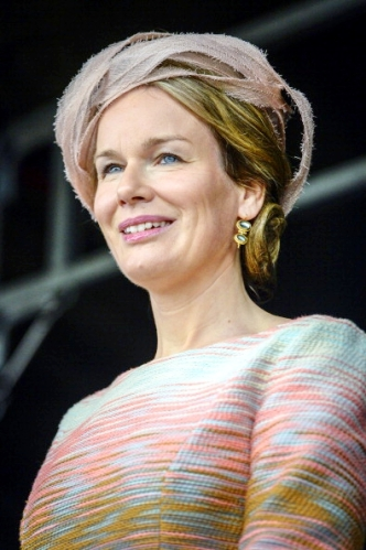 Queen Mathilde, July 10, 2014 in Fabienne Delvigne | Royal Hats