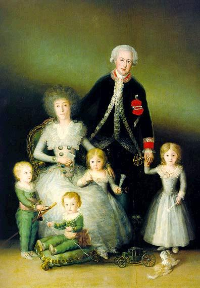 """The Duke and Duchess of Osuna and their Children"" by Francisco de Goya (1787)"