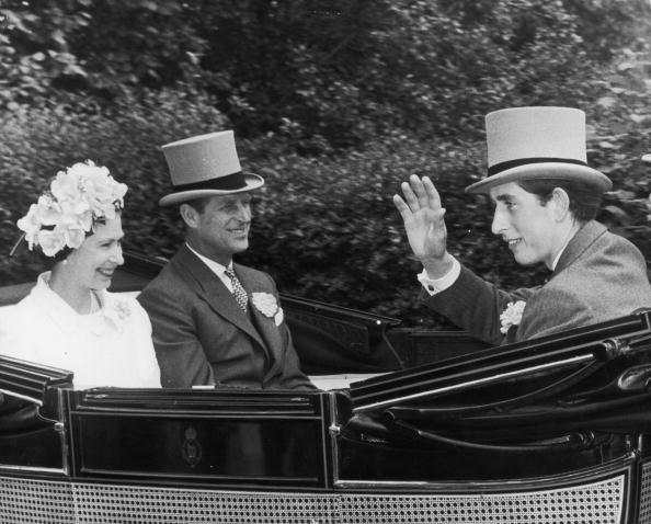 Queen Elizabeth, Duke of Edinburgh and Prince Charles, August 18, 1968   Royal Hats