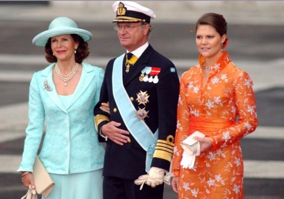 Queen Silvia and Crown Princes Victoria, May 22, 2004 | Royal Hats