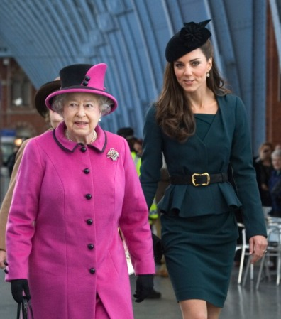 Queen Elizabeth in Angela Kelly and The Duchess of Cambridge in Lock & Co., March 8, 2012   Royal Hats