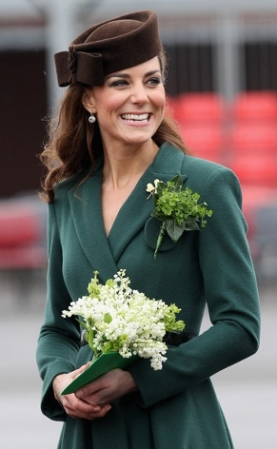 The Duchess of Cambridge, March 17, 2012 in Lock & Co.   Royal Hats