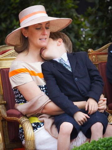 Princess Claire, July21, 2012 in Fabienne Delvigne | Royal Hats