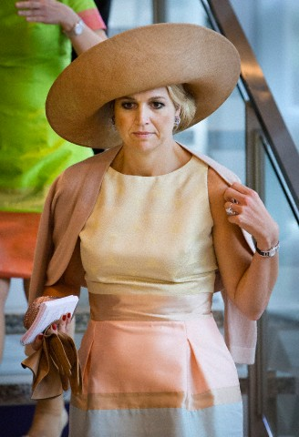 Queen Máxima, January 24, 2013 in Fabienne Delvigne | Royal Hats