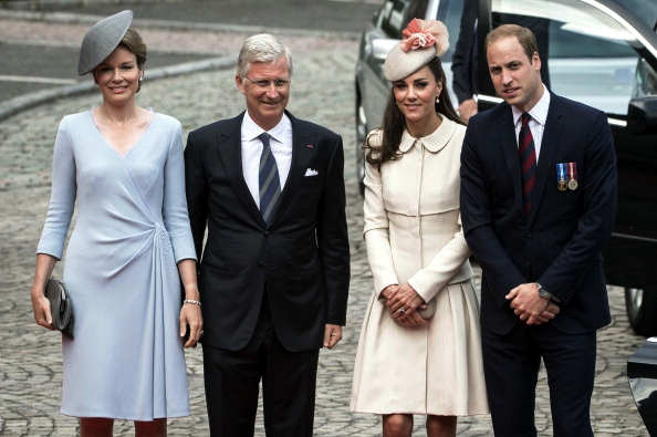 Queen Mathilde and the Duchess of Cambridge, August 4, 2014 |Royal Hats