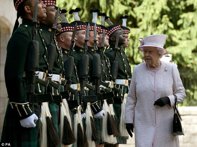 Queen Elizabeth, August 7, 2014 in Angela Kelly   Royal Hats