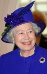 Britain's Queen Elizabeth II smiles duri