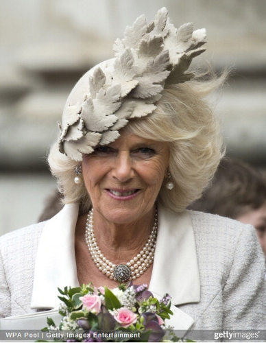 Duchess of Cornwall, March 10, 2014 in Philip Treacy | Royal Hats