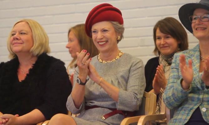 Princess Benedikte, October 3, 2014 in Susanne Juul | Royal Hats