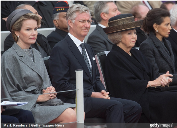 Queen Mathilde and Princess Beatrix, October 28, 2014 | Royal Hats