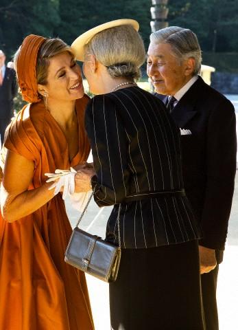 Queen Máxima and Empress Michiko, October 29, 2014 | Royal Hats