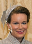 Queen Mathilde, February 19, 2014 in Philip Treacy | Royal Hats