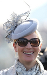 Zara Phillips, March 14, 2014 in Jane Taylor | The Royal Hats Blog