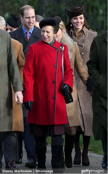 Princess Anne, December 25, 2014 |Royal Hats