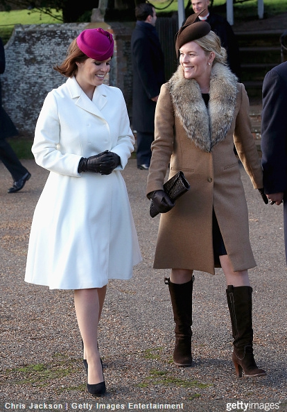 Autumn Phillips, December 25, 2014 in Juliette Botterill |Royal Hats