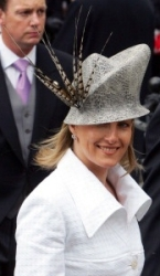 Countess of Wessex, April 9, 2005 in Philip Treacy | Royal Hats