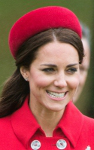 The Duchess of Cambridge, April 7, 2014 in Gina Foster | The Royal Hats Blog