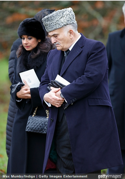 Princess Sarvath  and Prince El Hassan bin Talal of Jordan, January 8, 2015 | Royal Hats