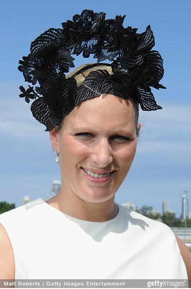 Zara Phillips Tindall, January 9, 2014 in Danica Erard| Royal Hats