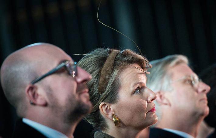 Queen Mathilde, January 24, 2015 in Fabienne Delvigne | Royal Hats
