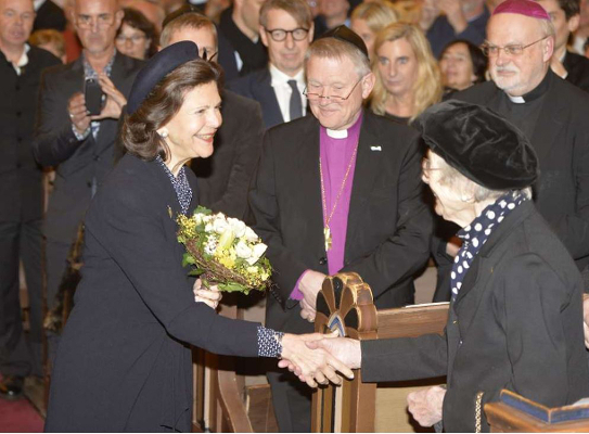 Queen Silvia, January 27, 2015 in Kerstin Carlefalk | Royal Hats