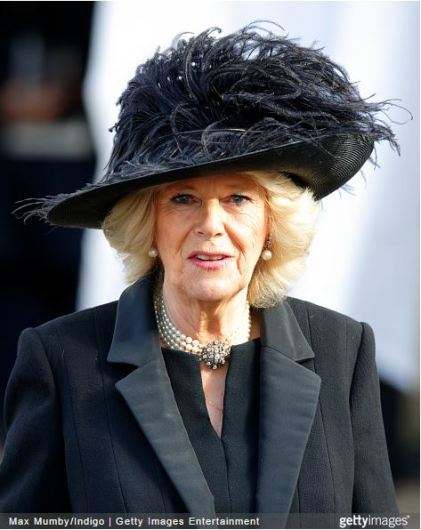 Duchess of Cornwall, February 4, 2015 in Philip Treacy | Royal Hats