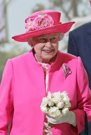 Queen Elizabeth, October 26, 2011 in Rachel Trevor Morgan   Royal Hats