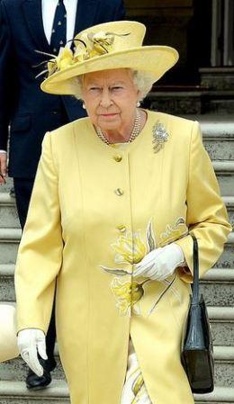 Queen Elizabeth, June 26, 2014 in Rachel Trevor Morgan   Royal Hats