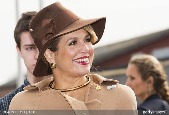 Queen Máxima, March 18, 2015 in Fabienne Delvigne| Royal Hats