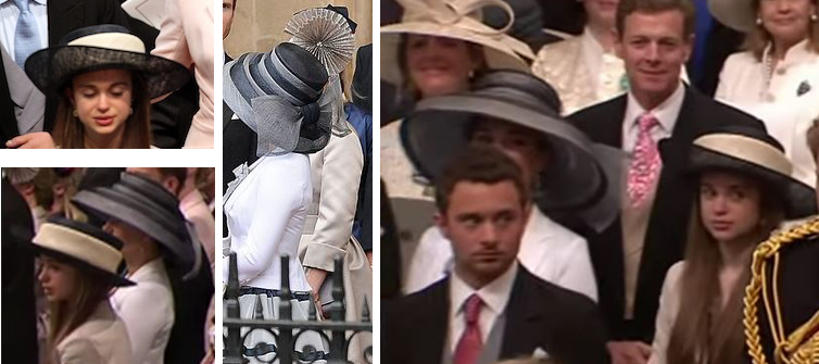 Lady Marina Windsor and Lady Amelia Windsor, April 29, 2011 | Royal Hats