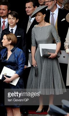 Lady Sarah Chatto, April 29, 2011 in Stephen Jones