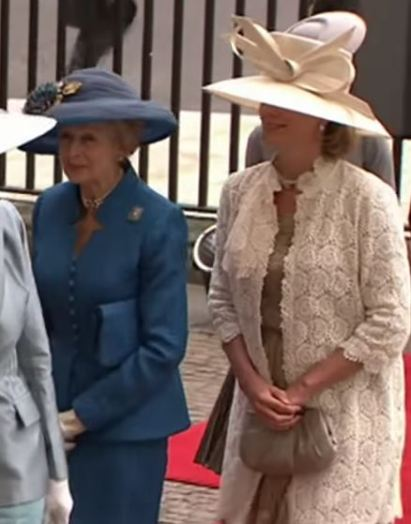 Princess Alexandra of Kent and Julia Ogilvy, April 29, 2011 | Royal Hats