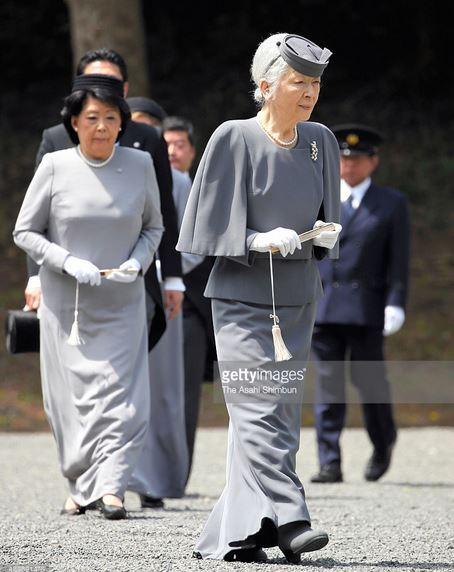 Empress Michiko, April 16, 2015 in Akio Hirata | Royal Hats