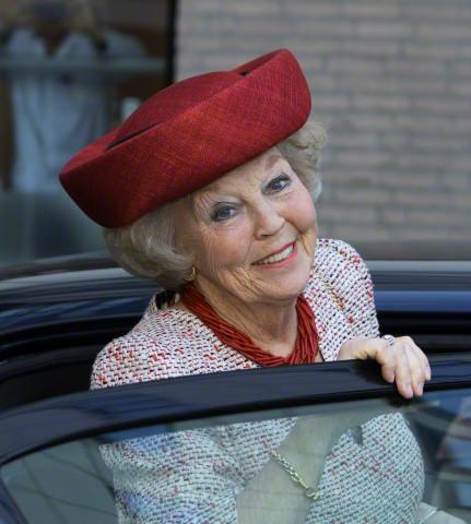 Princess Beatrix, April 21, 2015 in Suzanne Moulijn | Royal Hats