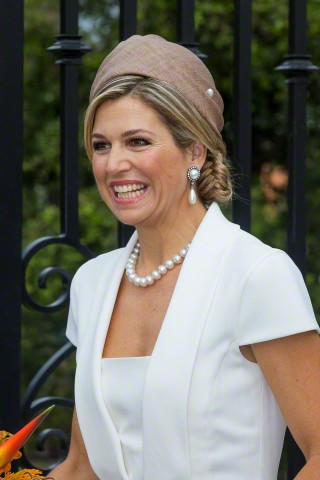 Queen Máxima, May 1, 2015 in Fabienne Delvigne | Royal Hats