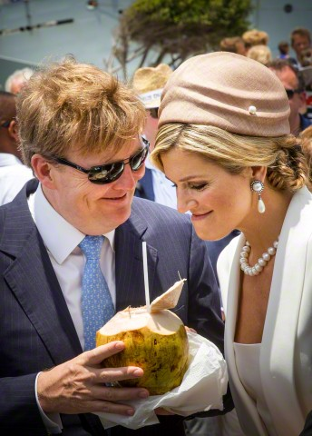 King Willem-Alexander and Queen Maxima in Oranjestad