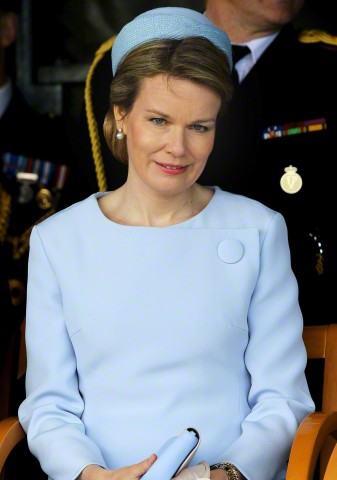 Queen Mathilde, May 6, 2015 in Dior | Royal Hats