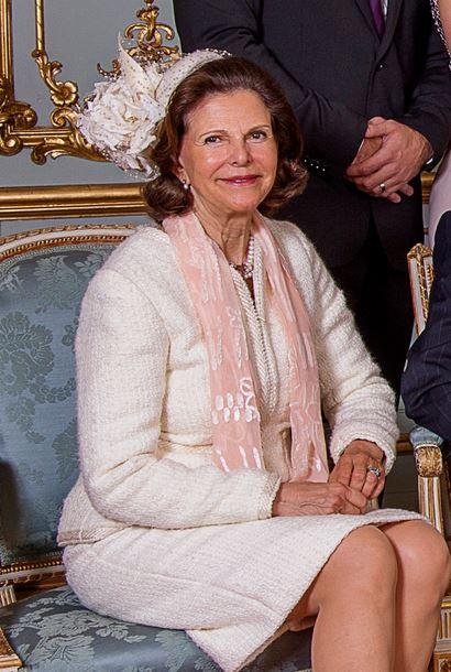 Queen Silvia, May 17, 2015 in Philip Treacy | Royal Hats