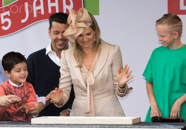 Queen Máxima, May  22, 2015 in Fabienne Delvigne | Royal Hats