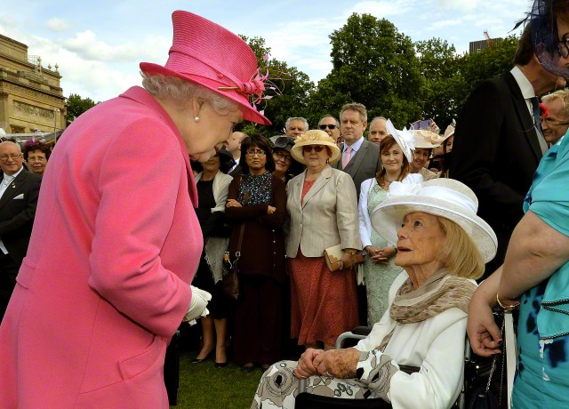 Queen Elizabeth, May 28, 2015 in Angela Kelly| Royal Hats