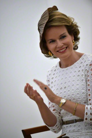 Queen Mathilde, June 2, 2015 in Fabienne Delvigne | Royal Hats