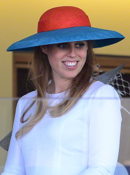Princess Beatrice, June 18, 2015 in Laura Apsit Livens | Royal Hats