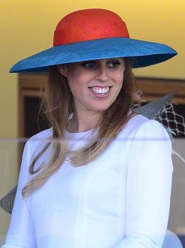 Princess Beatrice, June 18, 2015 in Laura Apsit Livens | Royal Hats
