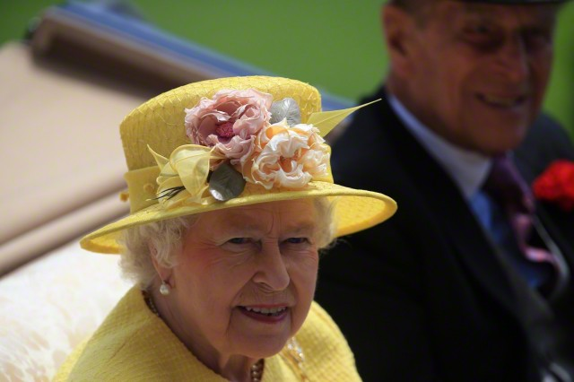 Queen Elizabeth, June 19, 2015 in Rachel Trevor Morgan
