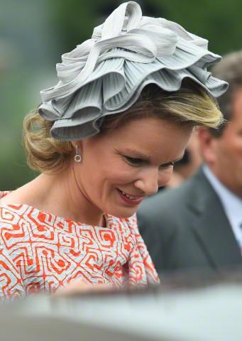 Queen Mathilde, June 22, 2015 in Fabienne Delvigne | Royal Hats