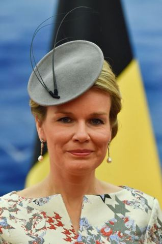 Queen Mathilde, June 23, 2015 in Fabienne Delvigne | Royal Hats