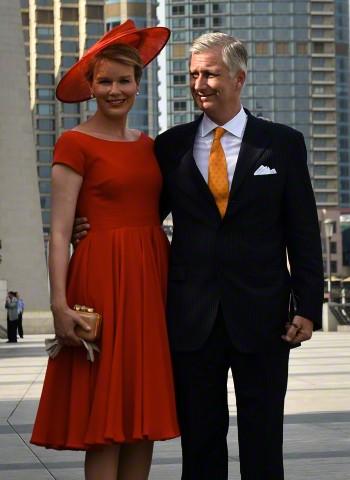 Queen Mathilde, June 25, 2015 in Fabienne Delvigne | Royal Hats